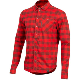 PEARL iZUMi Rove LS Shirt Men, torch red/russet plaid